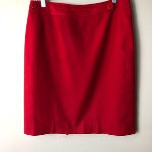 CARLISLE Red pencil skirt back zipper 98% cotton
